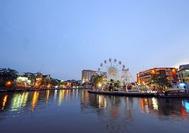 Malaysia Reisen | Malakka Fluss am Abend