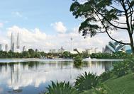 Skyline von Kuala Lumpur mit Petronas Towers