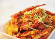 Malaysia Rundreise | Typischer Salat nach Penang Art