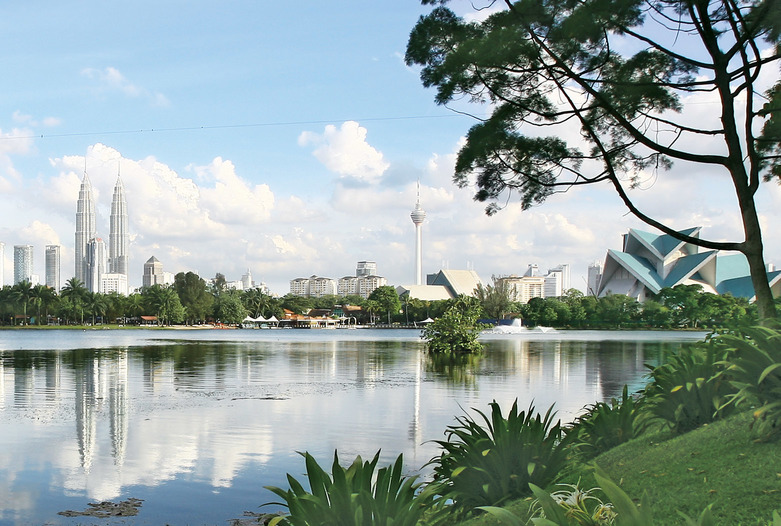 Malaysia Reisen | Skyline mit Petronas Towers, Kuala Lumpur