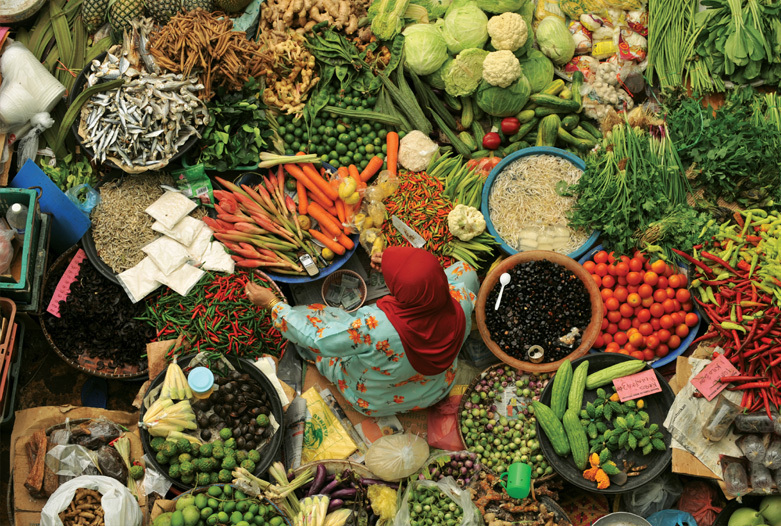 Malaysia Rundreise | Marktstand, Kota Bharu