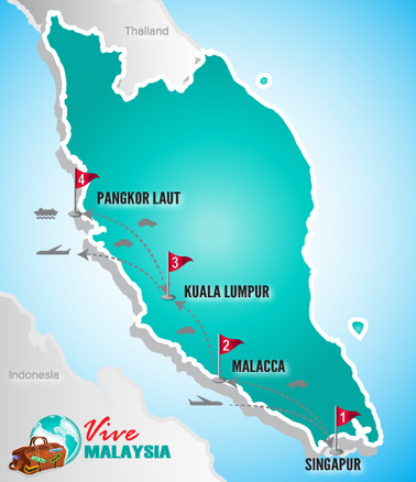 VMA.de Mapa Singapur, Kuala Lumpur & Strandurlaub_Kulturelle Kontraste und Erholung.png