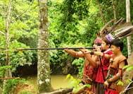 Malaysia Reisen | Blasrohrtraining mit Iban, Borneo