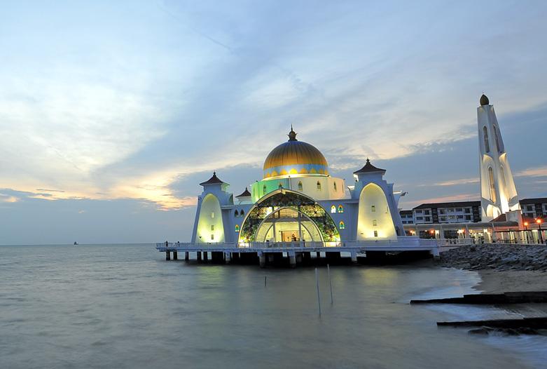 Malaysia Reisen | Straits Moschee, Malakka
