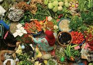 Malaysia Rundreise | Stand im Siti Khadijah-Markt von Kota Bharu